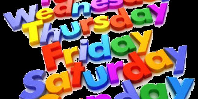 İngilizce Türkçe Haftanın Günleri Yazılışları ve Okunuşları