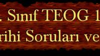 2014 TEOG 1. Dönem İnkilap Tarihi Soruları ve Cevapları