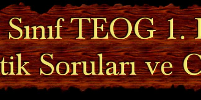 2014 TEOG 1. Dönem Matematik Soruları ve Cevapları