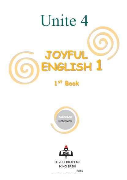 4. Sınıf İngilizce Joyful English Ders ve Çalışma Kitabı Cevapları Ünite 4