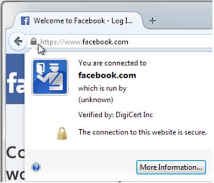 Firefox ile web sitesi arasındaki bağlantı şifrelenmiştir