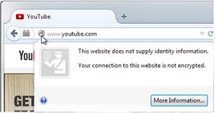 Web sitesi kimlik bilgisi sağlamıyor