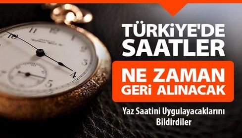 Türkiye'de saatler ne zaman geri alınacak