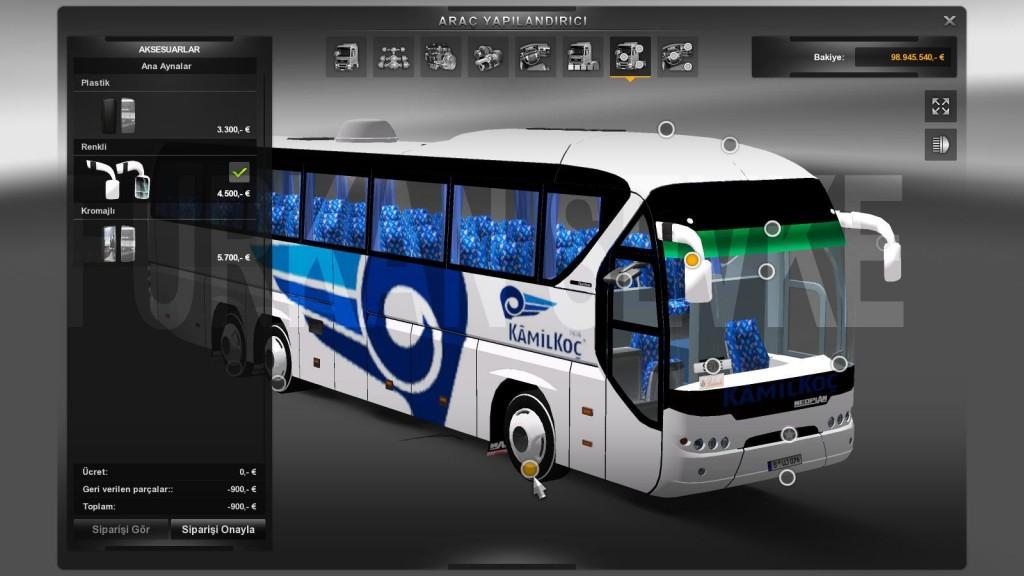 Euro Truck Simulator 2 Neoplan Tourliner Kamil Koç Yaması