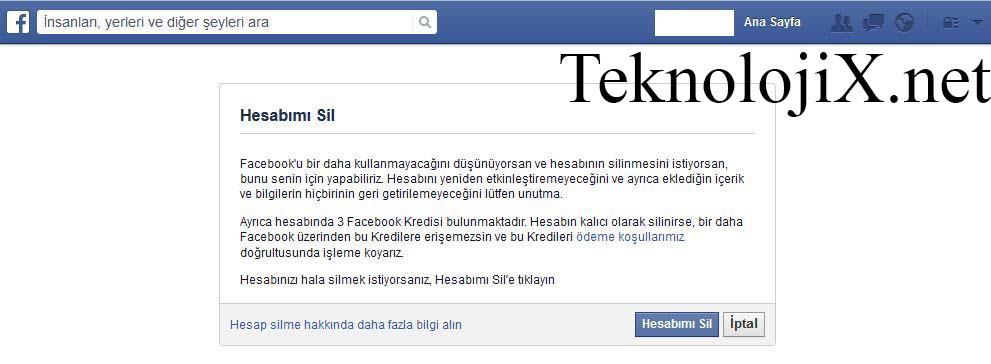 facebook hesabı nasıl silinir