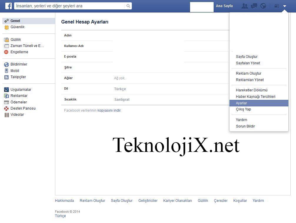 facebook verilerini kopyalama